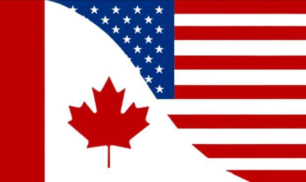 Canada Usa Friendship Flag Fahnen Flaggen Fahne Flagge