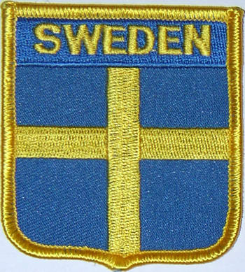 aufn her flagge schweden in wappenform 6 2 x 7 3 cm fahne aufn her flagge schweden in. Black Bedroom Furniture Sets. Home Design Ideas