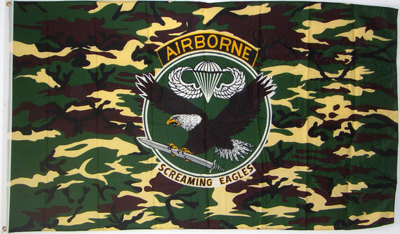 Bild von Airborne - Screaming Eagles-Fahne Airborne - Screaming Eagles-Nationalflagge, Flaggen und Fahnen kaufen, im Shop bestellen