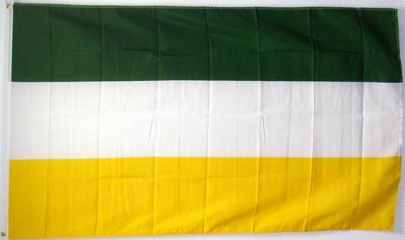 Flagge Gelb Weiß Grün