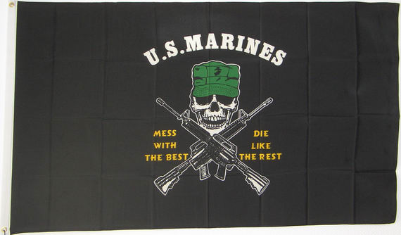 Bild von U.S. Marines -  Mess With The Best, Die Like The Rest-Fahne U.S. Marines -  Mess With The Best, Die Like The Rest-Nationalflagge, Flaggen und Fahnen kaufen, im Shop bestellen