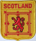 Aufn�her Schottischer L�we /  Royal Banner of Scotland  in Wappenform (6,2 x 7,3 cm) kaufen bestellen Shop
