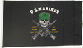 Flagge United States Marines - Mess With The Best, Die Like The Rest (150 x 90 cm) kaufen
