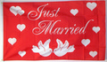 Flagge Just Married - Motiv 1  (150 x 90 cm) kaufen bestellen Shop