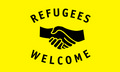 Flagge Refugees Welcome (150 x 90 cm) kaufen