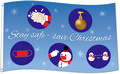 Flagge Stay safe - save Christmas (CoVid, Sars-CoV-2, Corona-Virus) (150 x 90 cm) kaufen