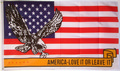 Flagge America - Love It Or Leave It (150 x 90 cm) kaufen