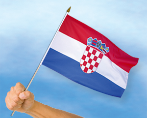stockflaggen kroatien 45 x 30 cm fahne stockflaggen. Black Bedroom Furniture Sets. Home Design Ideas
