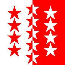 Schweiz Kanton Wallis Hissflagge wallisische Fahnen Flaggen 120x120cm