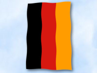 flagge deutschland im hochformat glanzpolyester fahne. Black Bedroom Furniture Sets. Home Design Ideas