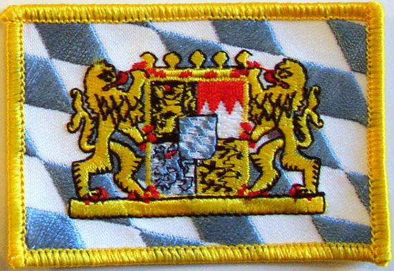 Original bayerische Flagge mit