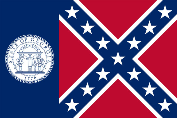USA  Bundesstaat Georgia 19562001Fahne USA  Bundesstaat