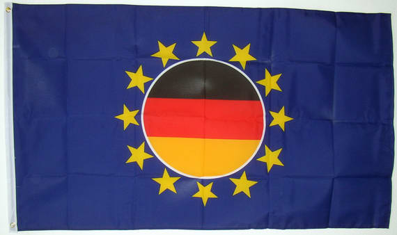 flagge eu mit den deutschen farben im sternenkreis fahne flagge eu mit den deutschen farben im. Black Bedroom Furniture Sets. Home Design Ideas