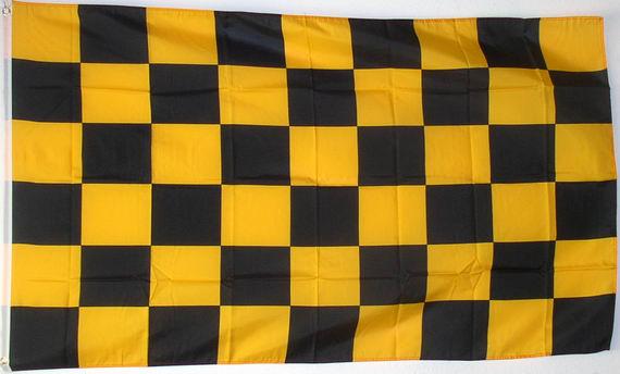 karo fahne schwarz gelb 150x90cm fahne karo fahne