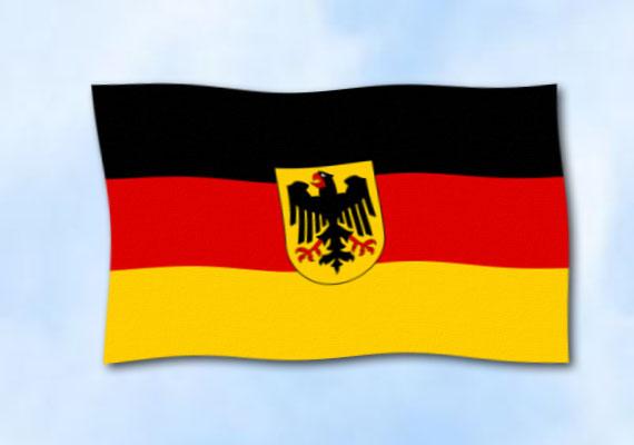 dienstflagge deutschland im querformat glanzpolyester fahne dienstflagge deutschland im. Black Bedroom Furniture Sets. Home Design Ideas