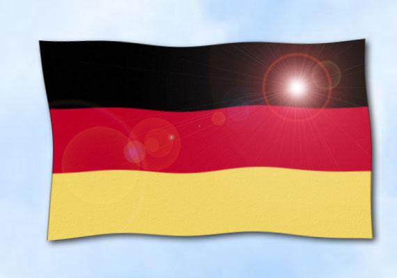 flagge deutschland im querformat glanzpolyester fahne flagge deutschland im querformat. Black Bedroom Furniture Sets. Home Design Ideas