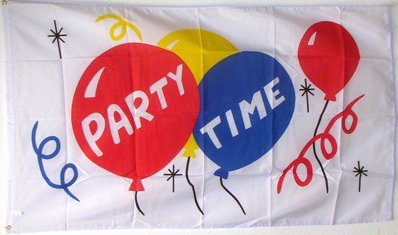 Bild von Flagge Party Time-Fahne Flagge Party Time-Nationalflagge, Flaggen und Fahnen kaufen, im Shop bestellen