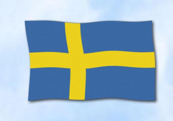 flagge schweden im querformat glanzpolyester fahne. Black Bedroom Furniture Sets. Home Design Ideas