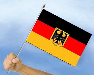 stockflaggen deutschland mit adler 45 x 30 cm fahne. Black Bedroom Furniture Sets. Home Design Ideas