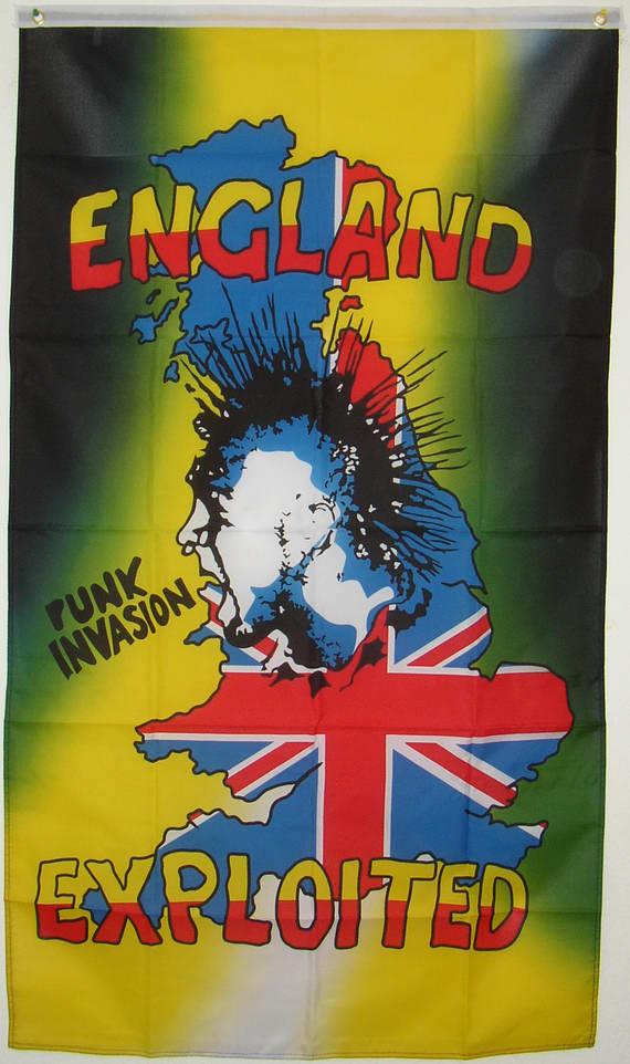 Bild von Punk Invasion - England Exploited-Fahne Punk Invasion - England Exploited-Nationalflagge, Flaggen und Fahnen kaufen, im Shop bestellen