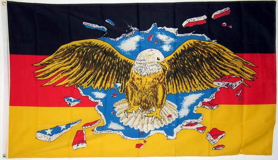 auch mit Adler mit Ösen Flaggen Fahne Deutschland