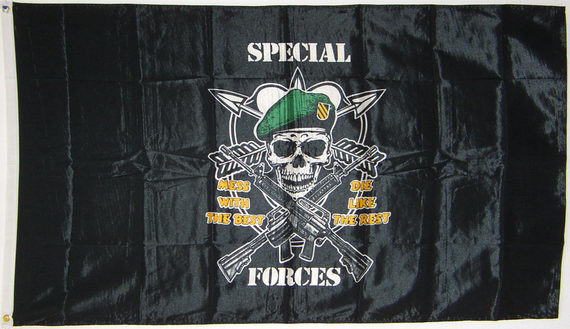 Bild von Flagge Special Forces -  Mess With The Best, Die Like The Rest-Fahne Flagge Special Forces -  Mess With The Best, Die Like The Rest-Nationalflagge, Flaggen und Fahnen kaufen, im Shop bestellen