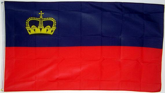 Flagge Fahne Liechtenstein Hissflagge 90 x 150 cm