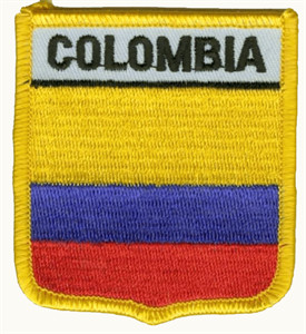 Aufnäher Kolumbien Fahne Flagge Aufbügler Patch 8 x 5 cm