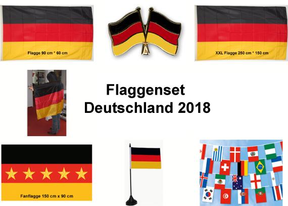 Wm 2018 Flaggen Set Deutschland Fahne Wm 2018 Flaggen
