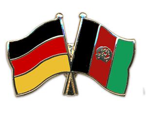 Freundschafts Pin Deutschland Afghanistan Fahne Freundschafts