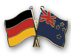 Freundschafts-Pin Deutschland - Neuseeland-Fahne ...