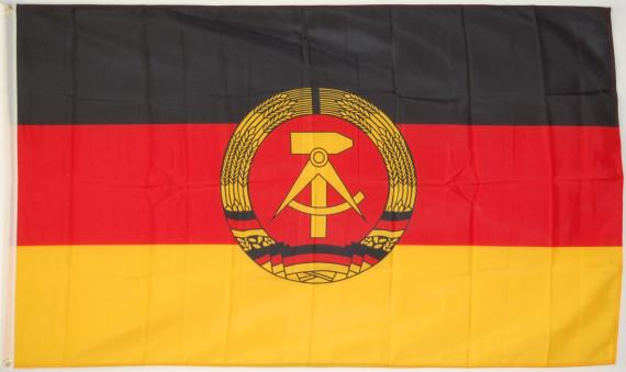 Fahne Flagge DDR 90 x 150 cm mit 2 Ösen