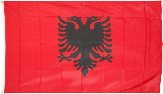 flagge albanien fahne albanien nationalflagge flaggen und fahnen kaufen im shop bestellen. Black Bedroom Furniture Sets. Home Design Ideas