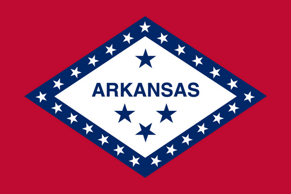 USA  Bundesstaat ArkansasFahne USA  Bundesstaat Arkansas