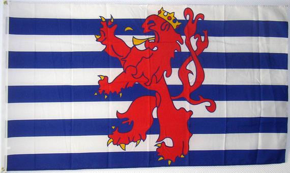 handelsflagge von luxembourg roter l we fahne. Black Bedroom Furniture Sets. Home Design Ideas